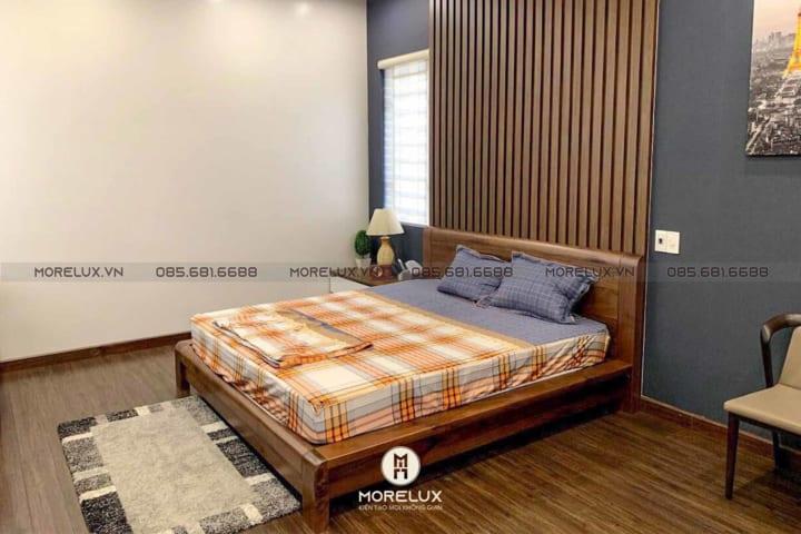 Giường ngủ gỗ óc chó GN04