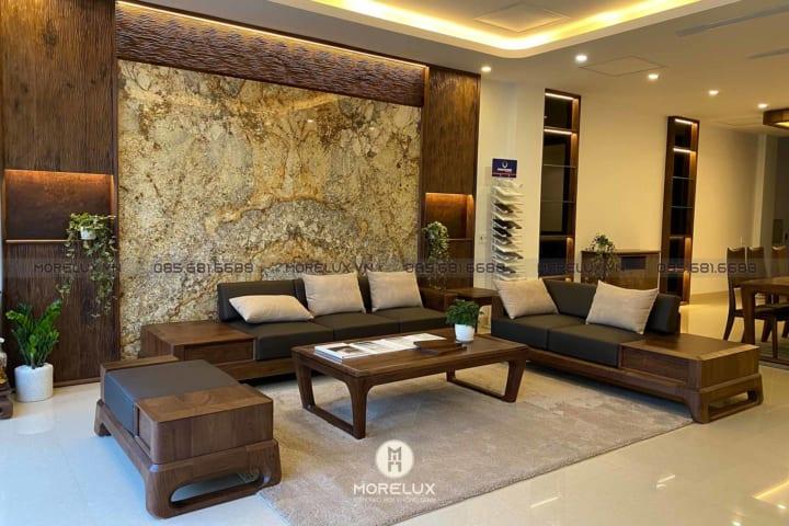 Bật mí những yếu tố cần thiết khi lựa chọn sofa gỗ cho phòng khách