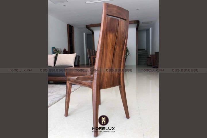Ghế ăn gỗ với kiểu dáng hiện đại