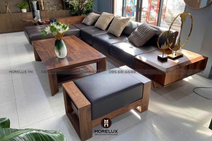 Sofa gỗ chữ L SF166