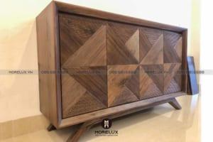 Tủ trang trí gỗ cho phòng khách – NHỎ NHƯNG CÓ VÕ