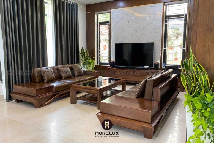 Mẫu sofa gỗ hiện đại SF36