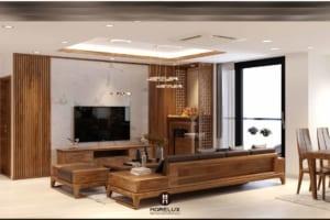 Hướng dẫn cách chọn sofa gỗ cho phòng khách chung cư