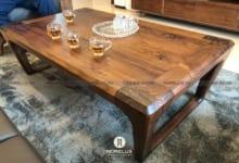 Mẫu bàn trà gỗ óc chó cao cấp BT01