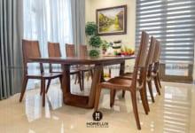 Bàn ghế ăn gỗ óc chó BA01