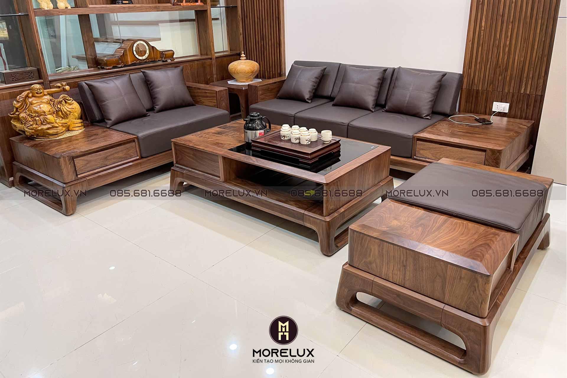 Sofa gỗ óc chó SF01