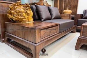 3 mẫu sofa gỗ óc chó thông dụng được các gia đình Việt yêu thích