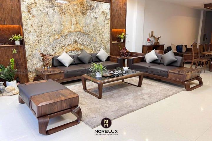 Sofa gỗ óc chó SF02