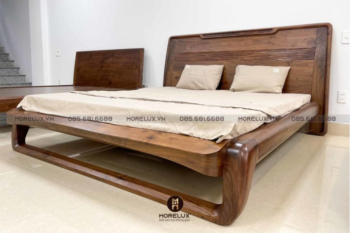 Giường ngủ gỗ óc chó GN06