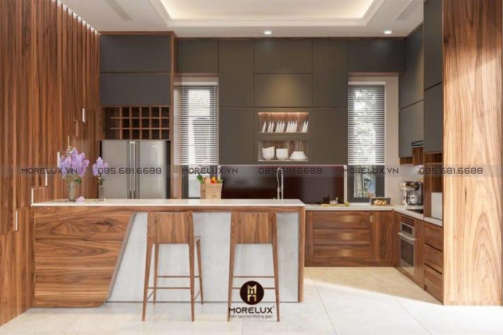 Tủ bếp gỗ óc chó Tb05