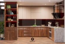 Tủ bếp gỗ óc chó TB08
